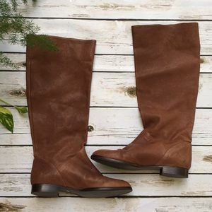 Supple Leather J. Crew Brown Boots Size 7